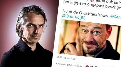 """Qmusic-dj onder vuur na tweet over Bart De Pauw: """"Compleet ongepast"""""""