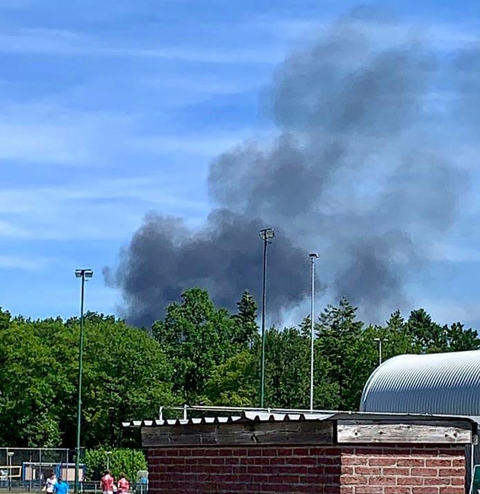 Een grote brand bij Recyclingbedrijf Baetsen.