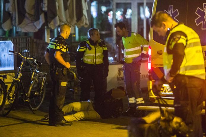 Een van de aangehouden vechtersbazen in Doetinchem.