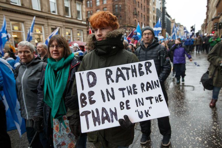 Protestmars in Glasgow,  Schotland.