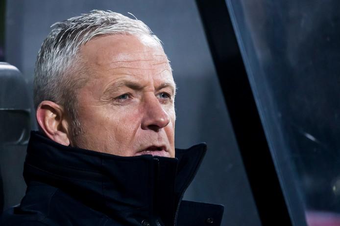 NEC-trainer Jack de Gier tijdens de wedstrijd tegen MVV (0-1).