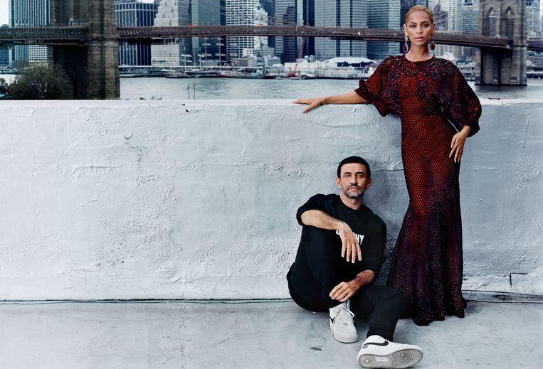 Riccardo Tisci en Beyonce Knowles, New York 2015.  Beeld Anton Corbijn