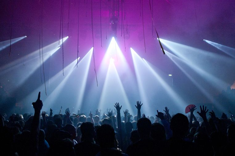 Een optreden van dj David Guetta in Amsterdam. Beeld ANP Kippa