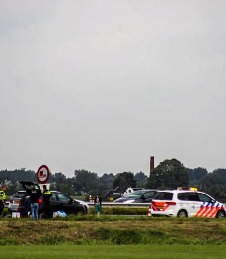 Stremming op A28 bij Nijkerk na ongeval
