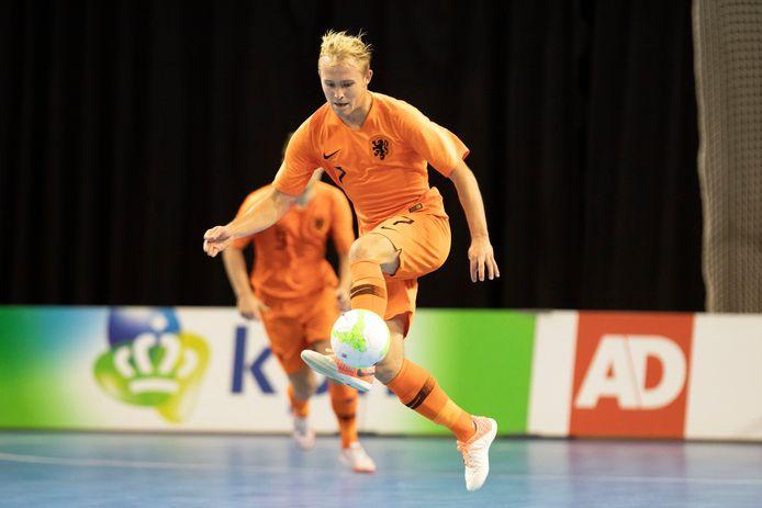 Jorg Ooievaar in actie namens Nederland.