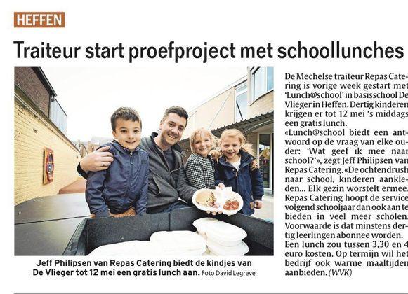 Jeff Philipsen bij de start van het proefproject in 2016 in De Vlieger in Heffen.