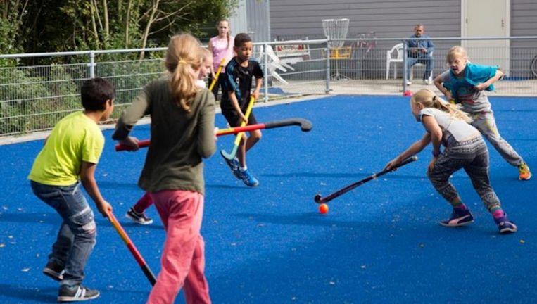 De vier nieuwe hockeyvelden komen op Sportpark Sloten. Beeld Gemeente Amsterdam