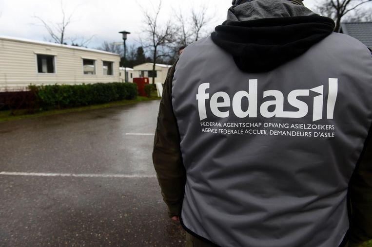 Illustratiebeed - Tijdelijke opvangcentrum van Fedasil in Lommel