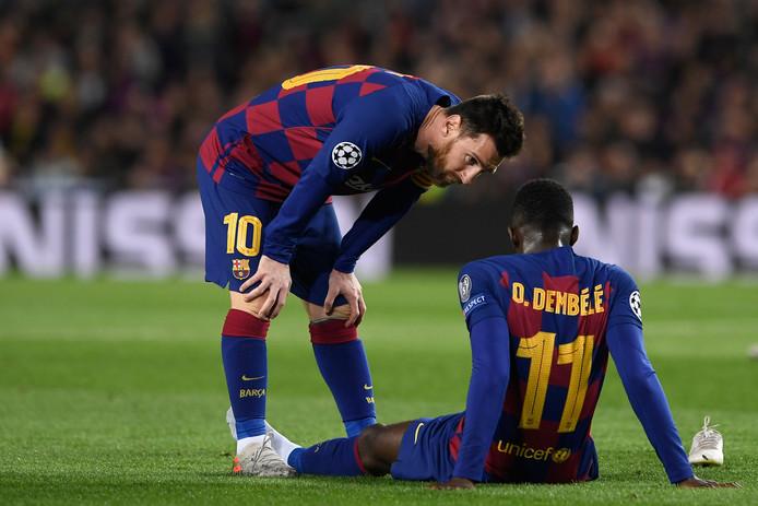 Lionel Messi en Ousmane Dembélé.