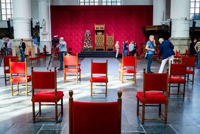 In De Grote Kerk in Den Haag wacht dinsdag een historische Prinsjesdag.