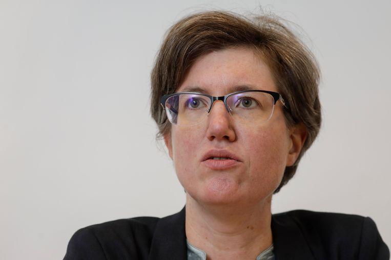 Burgemeester Catherine Moureaux betreurt het vertrek van Delhaize uit Molenbeek.