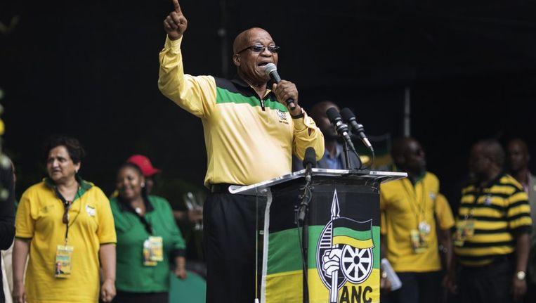 De president van Zuid-Afrika Jacob Zuma Beeld afp