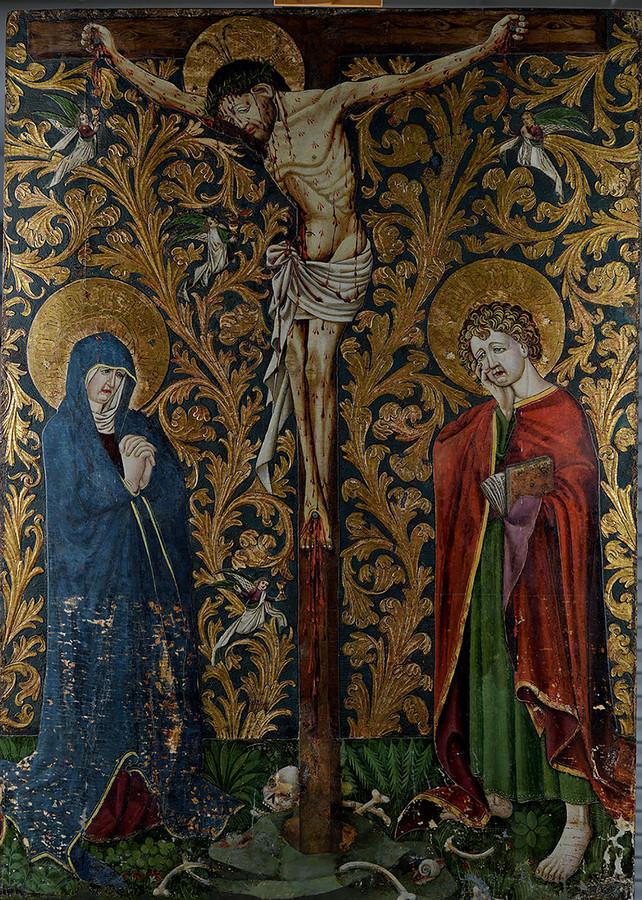De Kruisiging van de Meester van de Bewening te Linau uit 1425.
