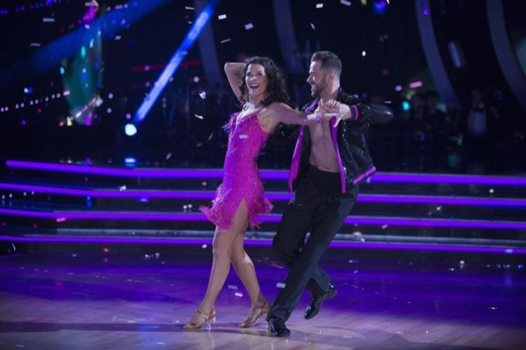 Nancy Kerrigan in 2017 in actie tijdens 'Dancing with the Stars'
