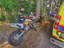 Motorrijder met spoed naar ziekenhuis na ongeluk in Vessem