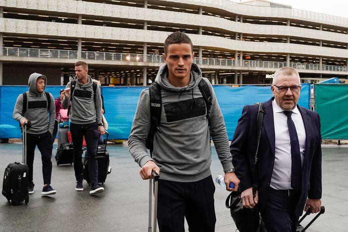 Ibrahim Afellay bij vertrek naar Linz.