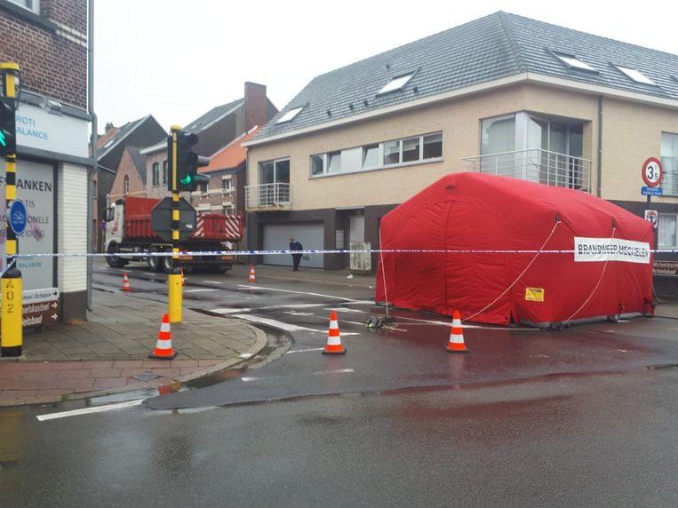 Het ongeval vond plaats op het kruispunt van de Liersesteenweg met de Clemenceaustraat.
