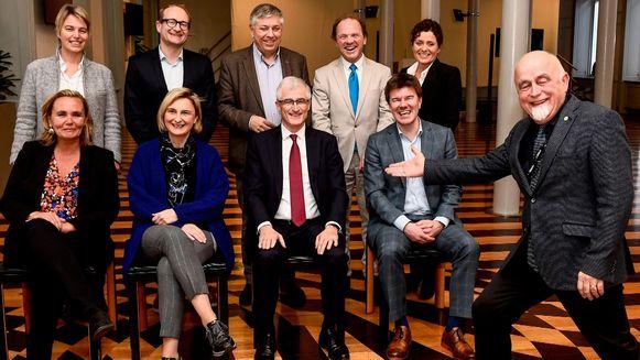 Archiefbeeld van de Vlaamse regering, hier nog met Joke Schauvliege in plaats van Koen Van den Heuvel.