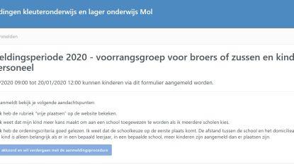 """Eerste aanmeldingsperiode voor basisscholen gestart: """"Kamperen aan Molse Meren, niet aan schoolpoort"""""""