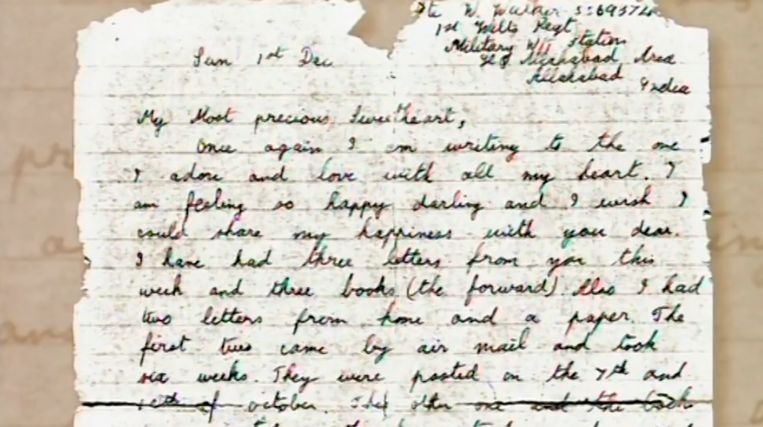 De laatste brief van de jonge soldaat aan zijn geliefde Phyllis Ponting.