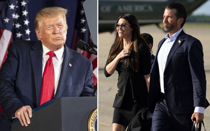 Het stel zou de president vergezellen naar Mount Rushmore, waar Trump de nationale feestdag viert, maar keerde terug.
