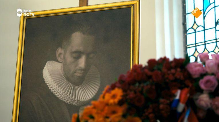 Portet van Saïd Zankoua tijdens de herdenkingsdienst. Beeld KRONCRV
