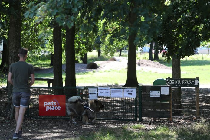 Het hondenuitlaatterrein in Asten.