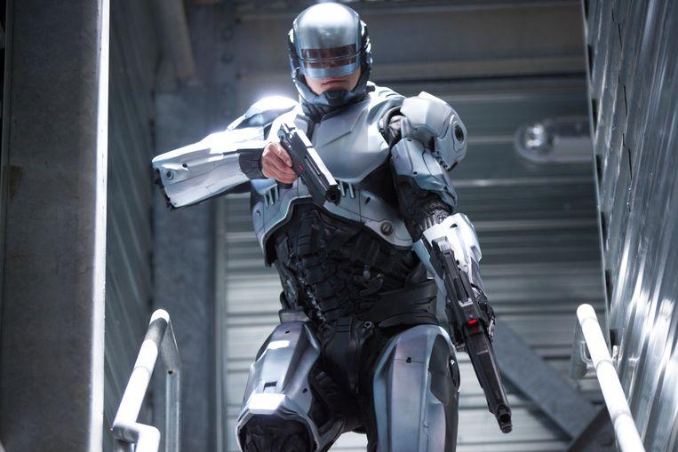 Joel Kinnaman in Robocop. Beeld Kerry Hayes