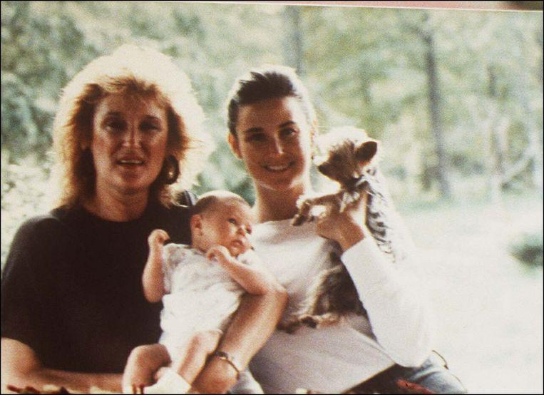 Demi en haar moeder.