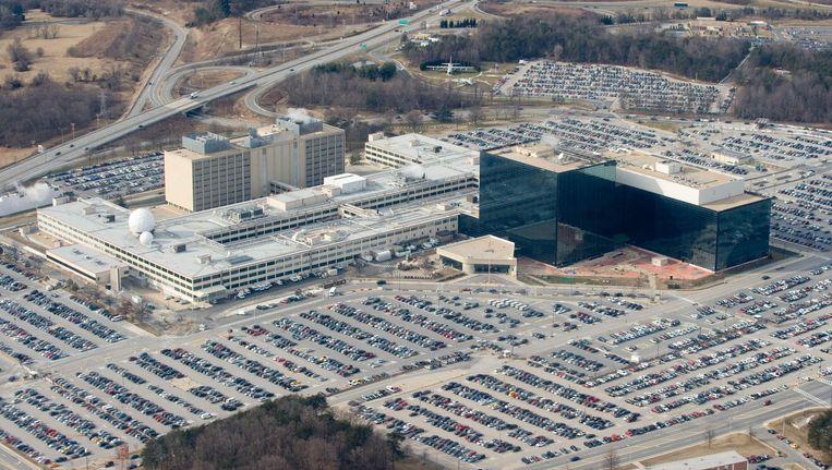 Het hoofdkantoor van de Amerikaanse inlichtingendienst NSA in Fort Meade, Maryland. Beeld afp