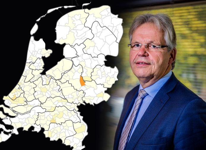 Burgemeester Jos Penninx over de coronabesmettingen in zijn gemeente Voorst. corona