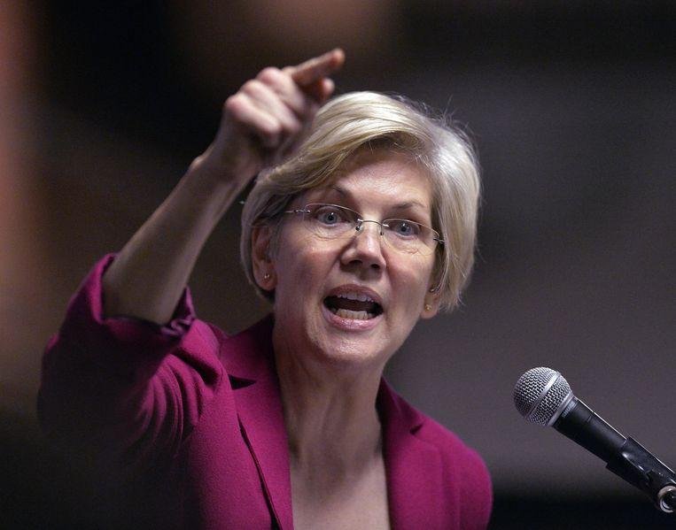 Senator Elizabeth Warren voldoet aan het profiel van 'pitbull' die Clinton zoekt als vicepresident om Trump aan te vallen. Beeld null