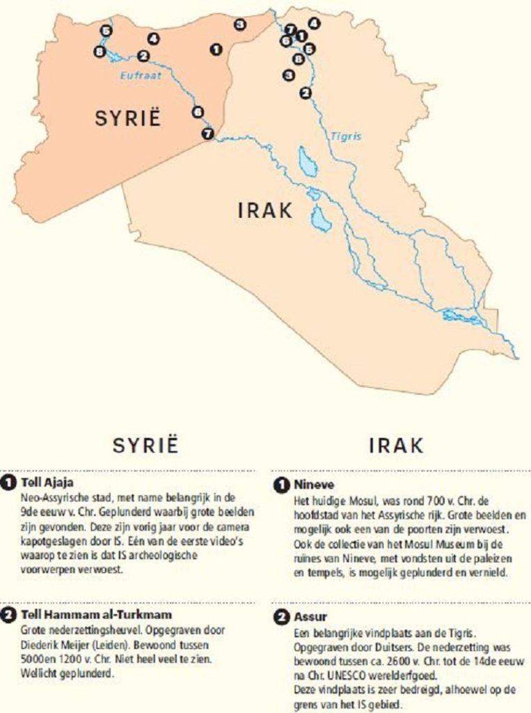 Kunstschatten in Syrië en Irak Beeld  Rijksmuseum van Oudheden