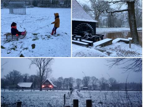 Twentenaren ontwaken in witte wereld: sneeuw levert deze mooie plaatjes op