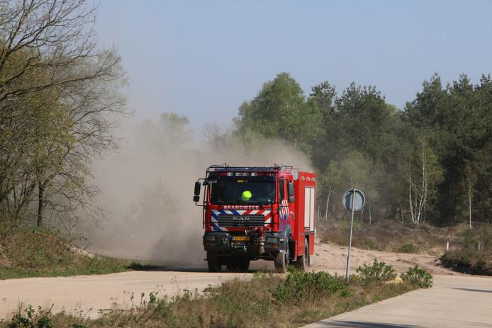 De brandweer zag al snel dat de brand meeviel.