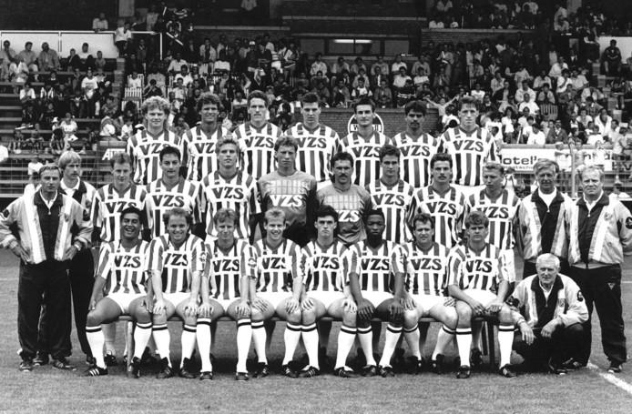 Teamfoto Willem II in het seizoen 1988-1989