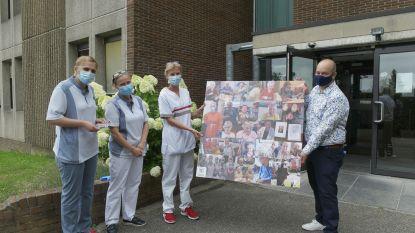 Canvas als eerbetoon voor zorgverleners van woonzorgcentrum 'Sint-Augustinus' in Diest