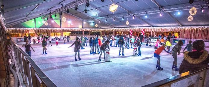 De ijsbaan in Zwolle. Foto: Frans Paalman