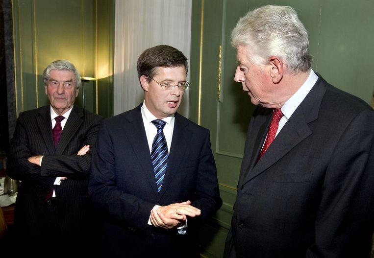 Drie oud-premiers: Lubbers, Balkende en Kok. Ze zijn somber gestemd over de staat van het land. Beeld ANP