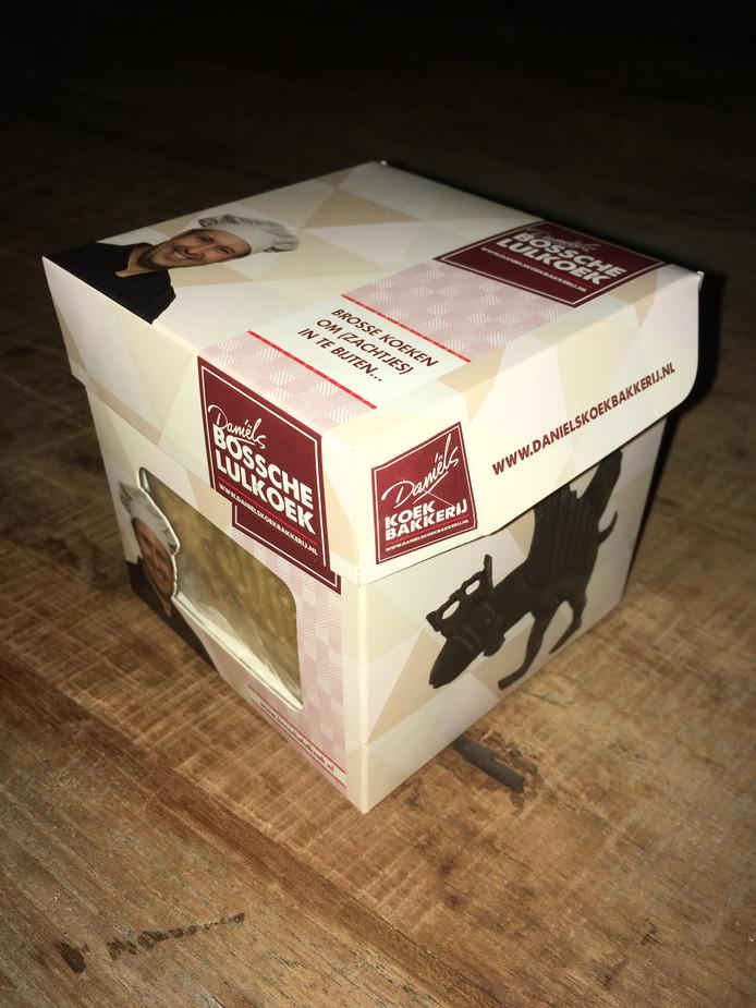 De verpakking van de Bossche Lulkoek.