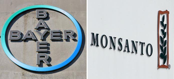 De logo's van de twee mogelijk fuserende bedrijven