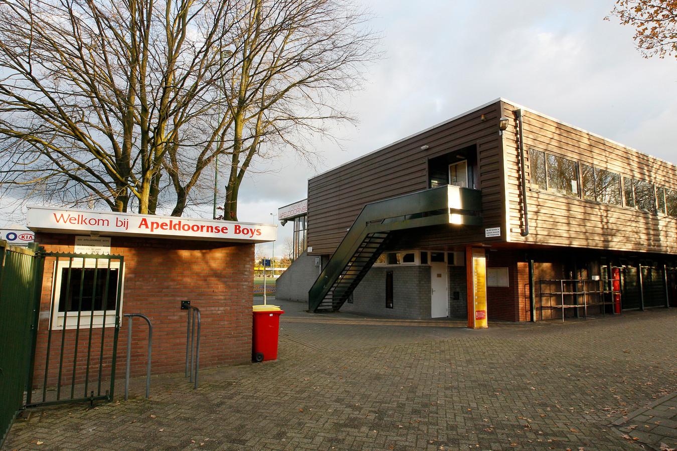 Het complex van Apeldoornse Boys aan de Dubbelbeek. Foto archief