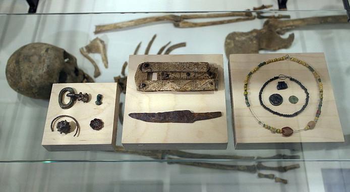 Inhoud van een vroegmiddeleeuws graf