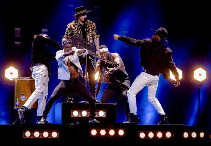 Waylon tijdens de tweede repetitie voor het Eurovisie Songfestival.
