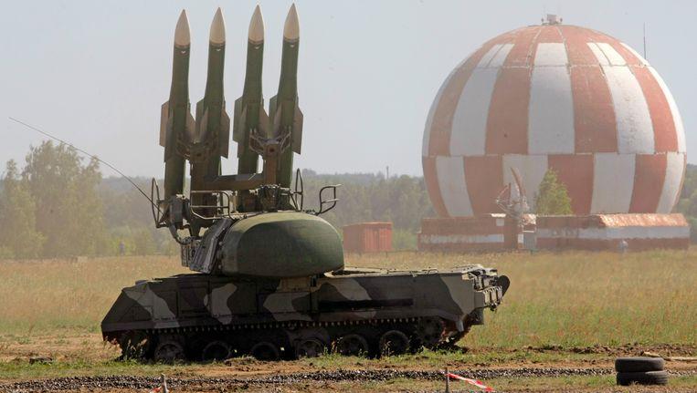 Een BUK-raketsysteem in een veld in Rusland. Beeld ap