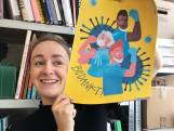 Enschedese Merel Corduwener tekent een bedankje voor de helden van de intensive care