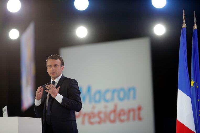 Volgens de peilingen zou Emmanuel Macron de Franse presidentsverkiezingen winnen