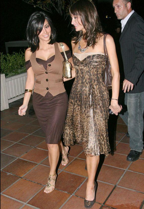 Met Paris Hilton in 2006.