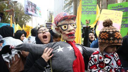"""""""Dood aan Amerika"""": Iran viert veertigste verjaardag van gijzeling VS-ambassade"""