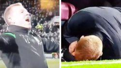 Coach daagt in verhitte Schotse derby fans uit, maar krijgt de rekening via één muntje snel gepresenteerd